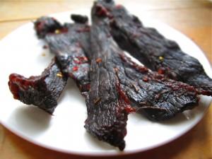 beef-jerky-on-plate